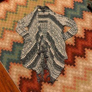 EUC Jessica Simpson Asymmetric Sweater Cardigan XL